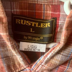 Rusted by Wrangler Western Shirt - Boys L